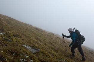 Mum climbs into the mist