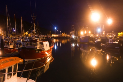 Scrabster by night