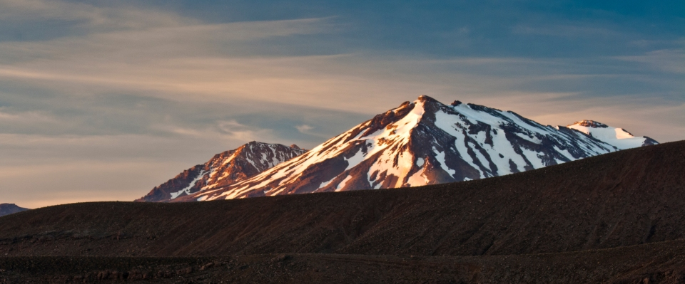 Dawn on Ruapehu